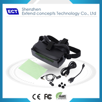 TFT screen Virtual 80'' (2m) ABS eco-friendly vr box 3d active glasses in gift box and carton