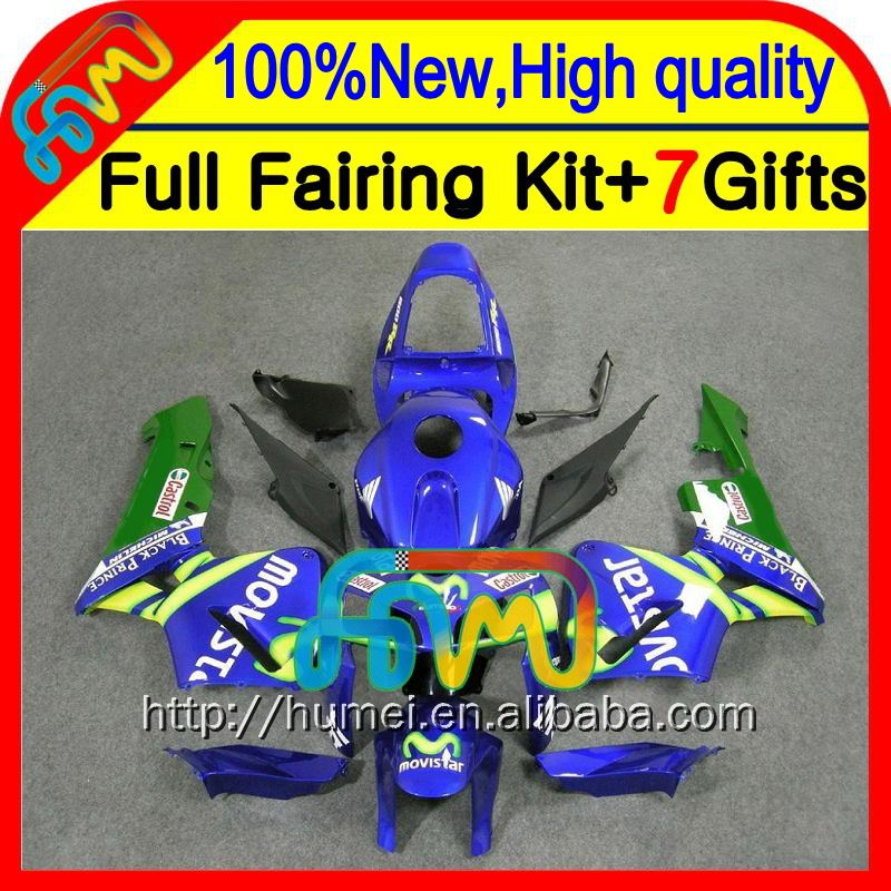 BodyInjection For HONDA CBR600RR Movistar Blue 05-06 F5 25CL37 CBR600 RR Green blue CBR 600RR 600 RR 05 06 2005 2006 Fairing