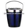 double wall ice bucket with handle and lid in different style