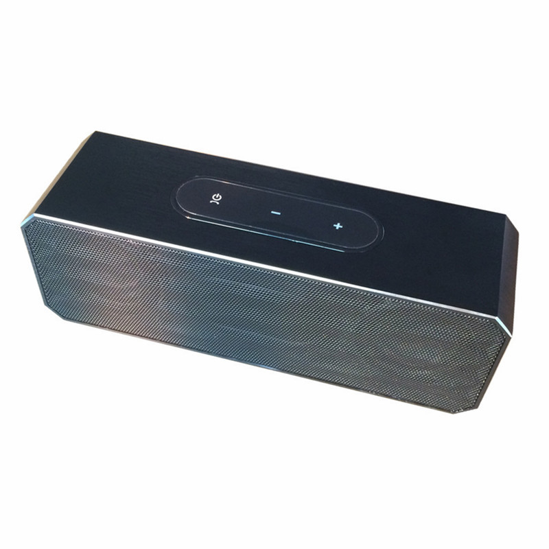 New Premium Portable aluminum wireless stereo speaker for PC/smart phone/MP3/MP4 with audio jack port, touch screen