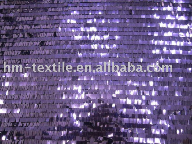 9mm piano purple sequin mesh fabric for chair cover