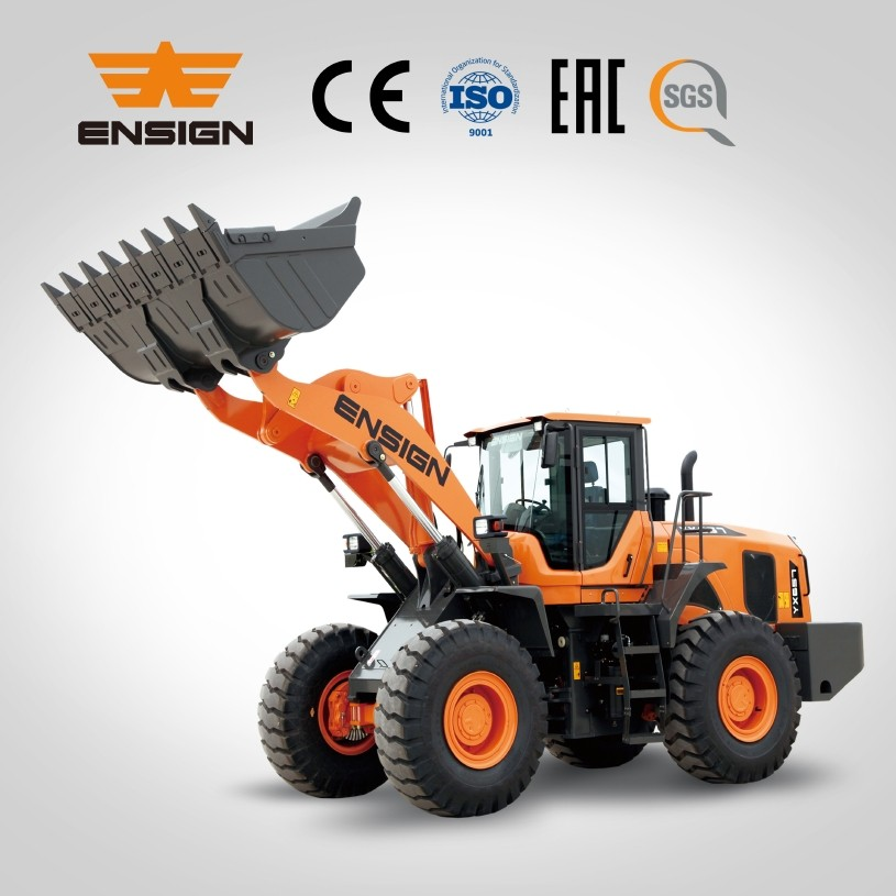 Heavy equipment ENSIGN YX657 wheel loader with ZF transmission and Meritor axle