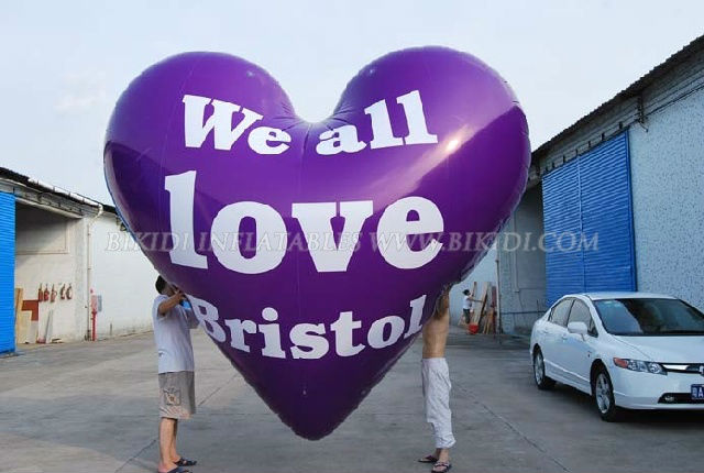 Fly balloon, inflatable giant balloon love heart shape K7025
