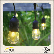 54ft festoon patio power code outdoor string lights event decor