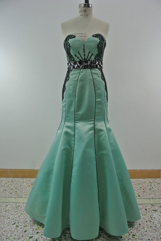 Fabulous new style beaded ball gown prom dress in stock
