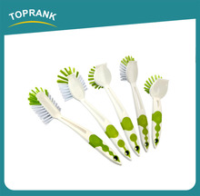 Toprank Walmart Supplier Wholesale Household Plastic Handheld Dish Brush Kitchen Cleaning Brush Set