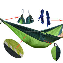 New Double 2 Persons parachute camping hammock for camping