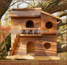 big size eco-friendly natural wooden bird house bird cages