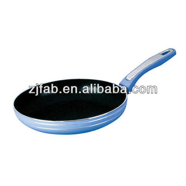 High quality blue non stick aluminum alloy frying pan
