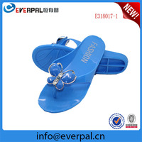 sky blue esd nude jelly pvc beach slipper