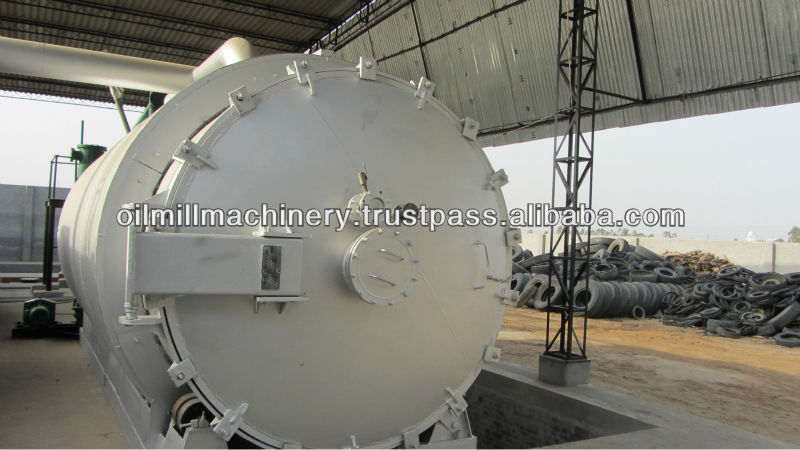 CONTINUOUS AUTOMATIC Environmental Friendly tyre oil pyrolysis to diesel Plant made in INDIA