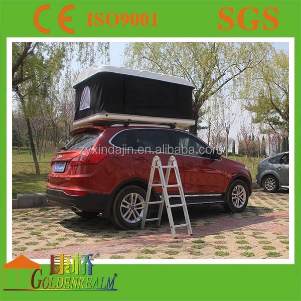 SUV Auto Hard Shell Roof Top Tent For 2 Person