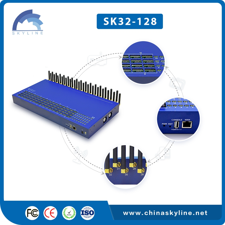 New Sk 32 Ports Voip Goip Gsm Gateway,Sms Gateway For Call Termination And International Calls