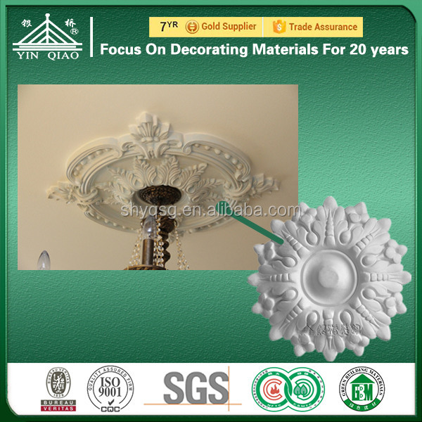 Salable Ornamental Artificial Hand Carved Gypsum Ceiling Plates