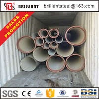 80mm water pressure test ductile cast iron pipe rates