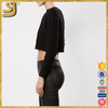New fashion women roll neck knitting black pullover sweaters
