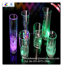 Magic inductive color changing led flash giow light cup/led glow cups