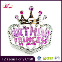 New Products 2016 Princess Crown For Girls Bulk Princess Rhinestone Tiaras Birthday You