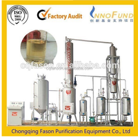 change black oil to yellow used engine oil oil distillation equipment