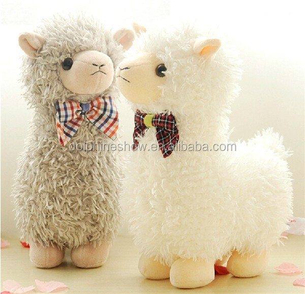 Tot selling cute stuffed animal toy plush alpaca