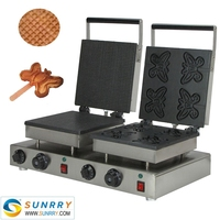 Most popular mini lolly waffle cake pressing making machine for sale (SUNRRY SY-WM57A)