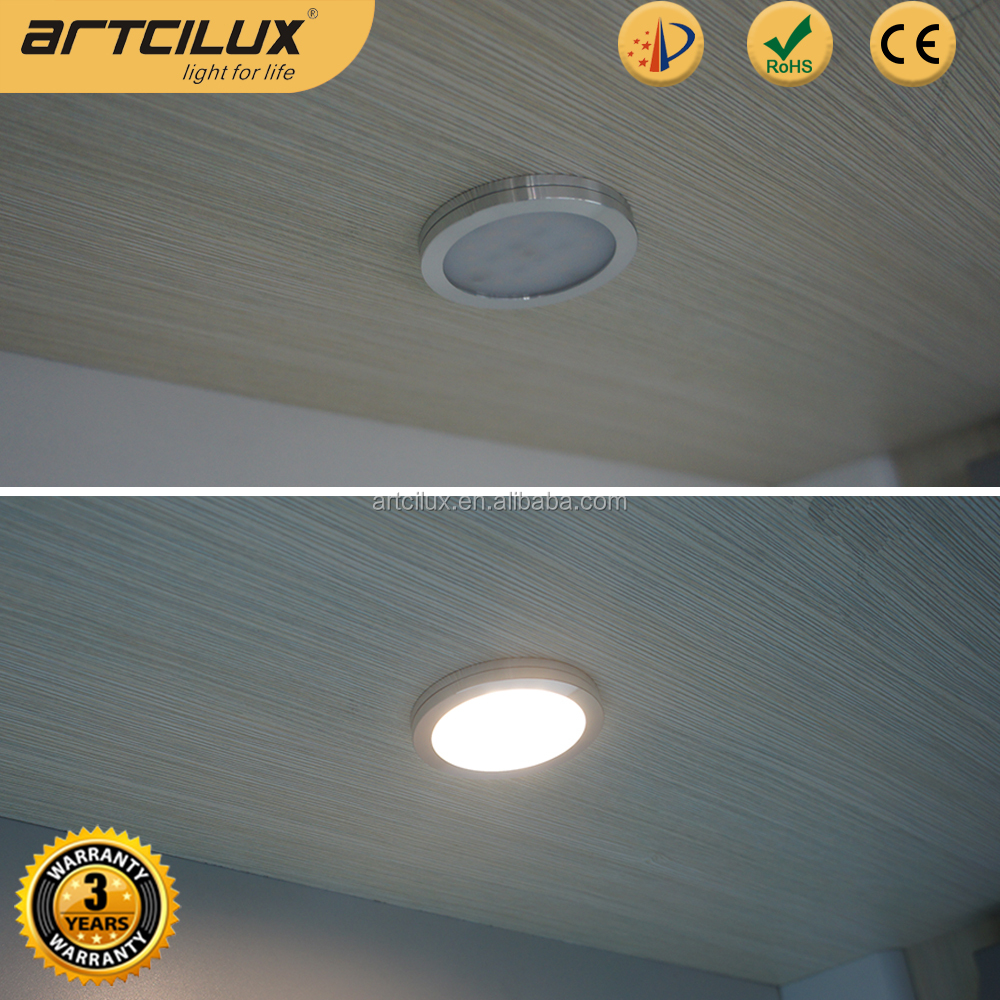 Low Voltage Aluminium mini single led puck light under cabinet / shelves / cupboard