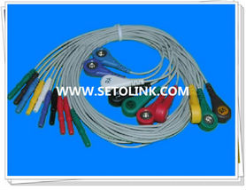 10 LEADWIRES HOLTER RECORDER ECG CABLE FOR PATIENT MONTOR