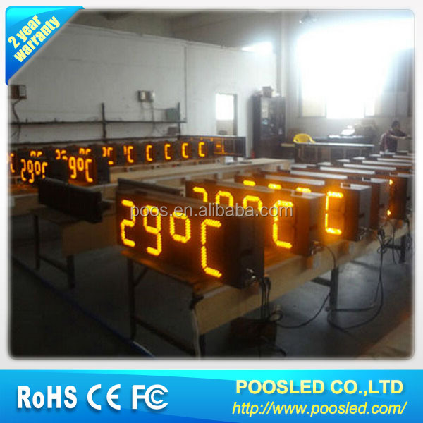 digital clock with temperature sensor  outdoor temperature display  led digital clock & temperature display