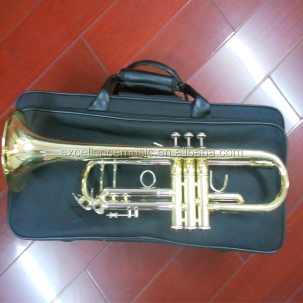 bach trumpet bB trumpet with gold lacquer and yellow brass body for professional player