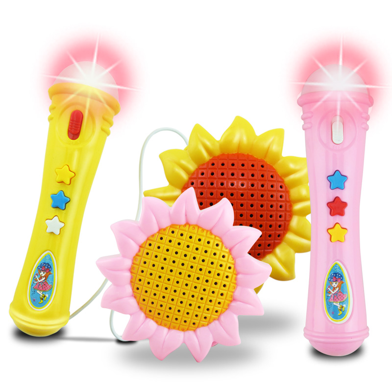 Musical instrument karaoke machine kids microphone toy with light