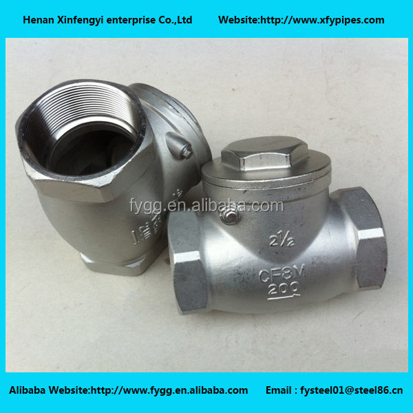SS threaded swing check valve