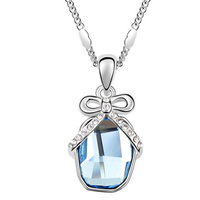 White Gold Plated High Quality Necklaces Jewelry 2016 made with Swarovski elements