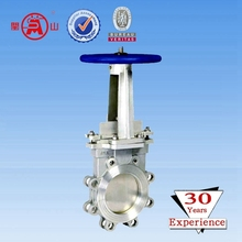 Chain Wheel Knife Gate Valve For Pipeline