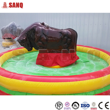 Exciting coin operated kiddy bull ride, rotating bull ride