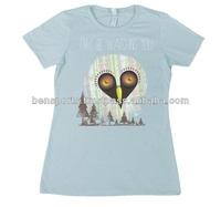 Animal T-Shirts 100% Cotton Printed on Womens Owl Be Watching You T-Shirt