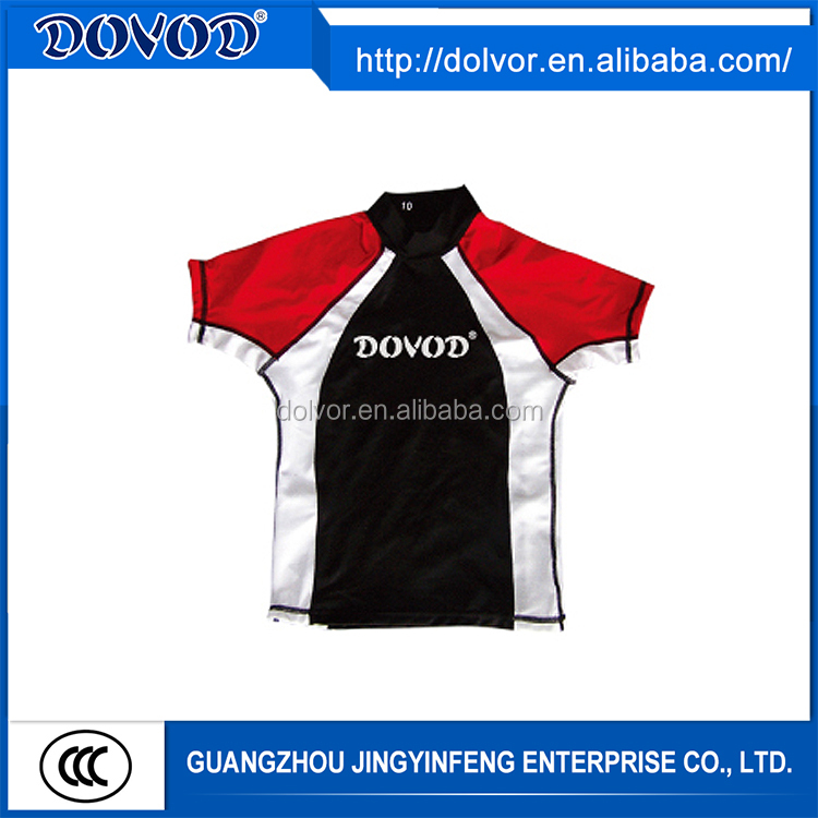 OEM service cheap short sleeve swim rash guard shirt