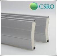 Roll up shutter door with 77mm aluminum foam filled slats