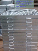 galvanized outdoor drain cover,galv smooth grating,galvanized marine grating