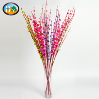 China cheap wholesale colorful foam willow branches decorative artificial flower berries