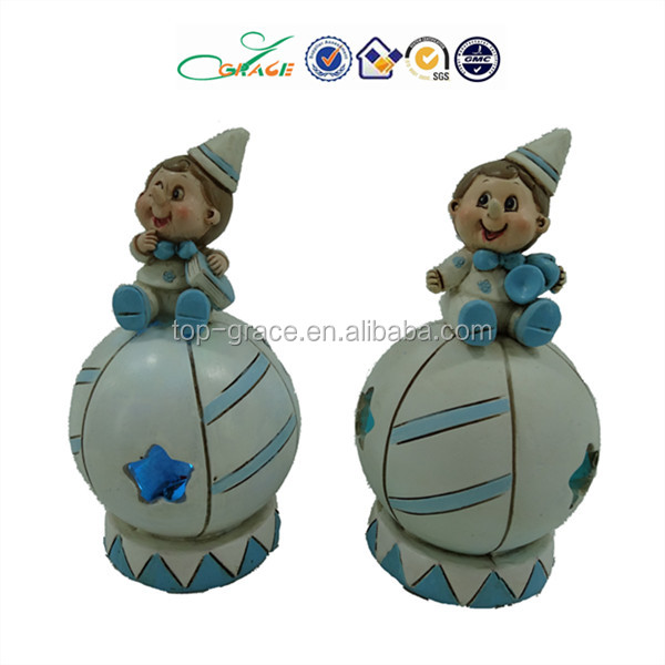 resin clown figurine baby light