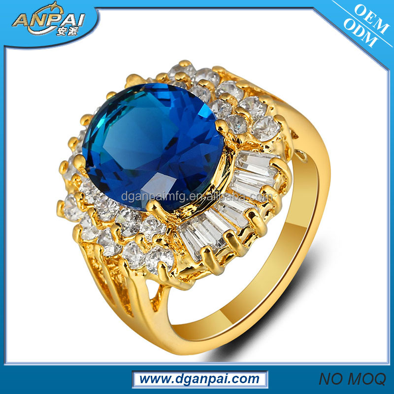 18k ladies gold finger ring jewelry good price iraq 81340027 tanzanite blue fire opal ring