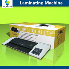 A4 A3 Metal card thermal laminating machine/pouch laminator 1) Heating and preheading of infrared ray radiating are prompt,only