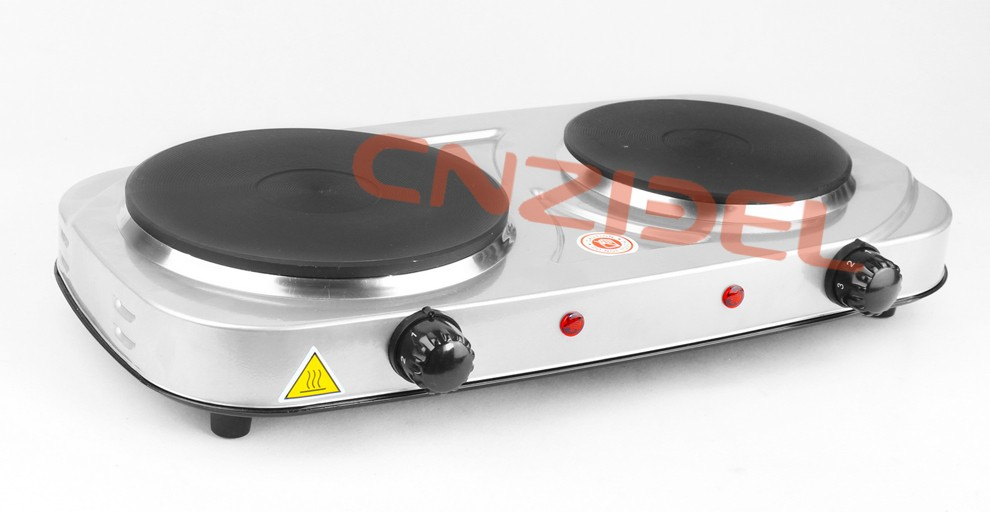 Cnzidel Portable Electric Hot Plate Hot Plate 2 Burner Electric Stove  Cooking Hot Plate