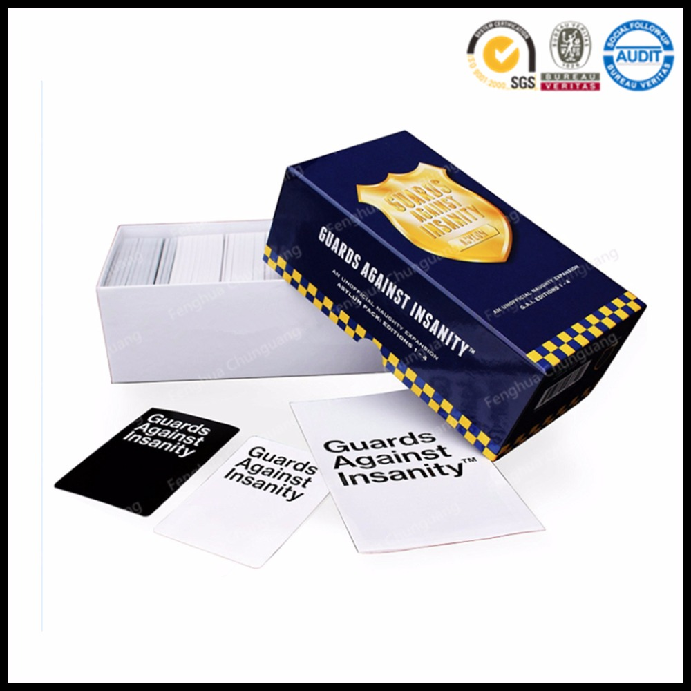 Customized High Quality Card Against Humanity Party Game Wholesale