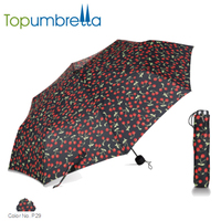 High sun protection ladies fashion umbrella flower print inside fancy handle umbrellas