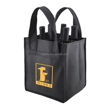 100GSM New PP Non Woven Fabric 6 Bottle Wine Tote Gift Bag For Wholesale