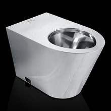 620mm stainless steel hotel toilet public toilet with PVC lid