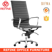 erergonomic modern executive high back leather and chrome office chair RF-S074