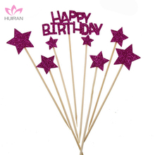 Wholesale Happy Birthday Shinning Star Cake Topper