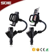 Universal 12V Dual Port Portable Cell Mobile Phone 2 Usb Car Charger For Iphone/Samsung